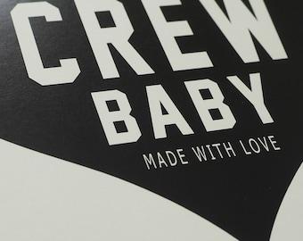 "Columbus Crew Heart Nursery Art - 8.5""x11"" PRINT"