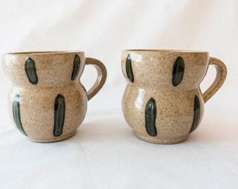 Set of two handmade mugs