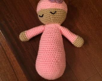 Crochet Baby Doll, Toy, Plushie, Amigurumi