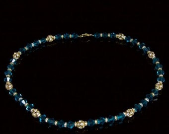 Silver Green Quartz Crystal Stunning Necklace