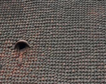 Clay Tiled-rooftop Nepal Travel print Himalayas,Photo Nepal