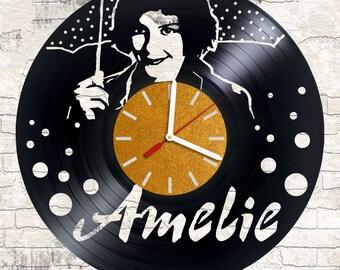 Vinyl wall clock Amelie