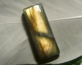 Labradorite Cabochon, 13.2ct Rectangular Shape