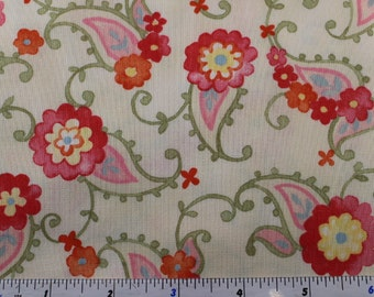 Nanette by  Chez Moi for Moda Fabrics  33164 Cream (12) Yellow (15) and Pink (13) and Blue (14)