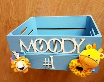 Personalised baby shower crates