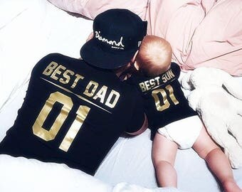 Father and son matching shirts, Best DAD Best SON dad and baby matching shirts, father and son clothes, Daddy baby clothes, family shirts