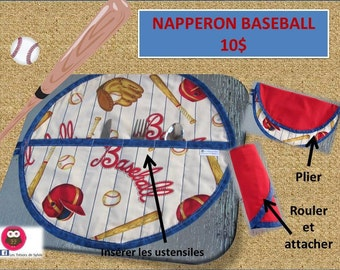 Round PLACEMATS for the lunch box, sport Theme