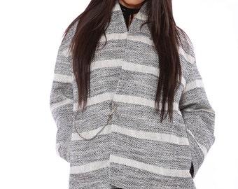 NEW! Linen Casual Jacket ,Loose Jacket Coat, Oversized Jacket, Plus Size Jacket, Wrap Coat, Collar Coat, Minimalistic Coat, Wrap Coat