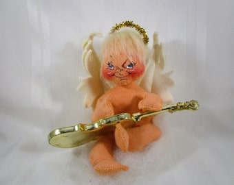 Annalee Doll, Angel with Violin, 1988, Hand Painted Face, 1981
