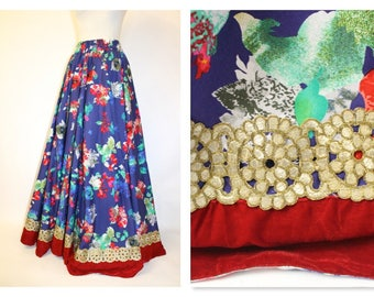 FAB Bright full netted half circle maxi skirt with underskirt Theatrical and very Glam!