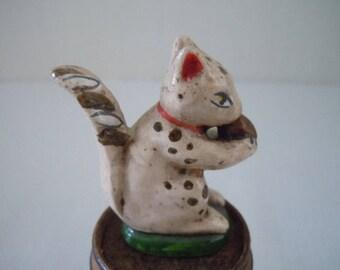 Vintage Squirrel Figurine ~ Artisan ~ LeeAnn Chellis Wessel ~ Porcelain Squirrel ~ Miniature Squirrel figurine ~ Collectors figurine