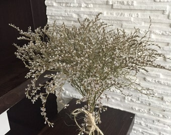 Dried flower bouquet,dried German statice, natural home decor, dried flowers