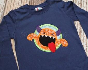 Silly Monster Applique Shirt