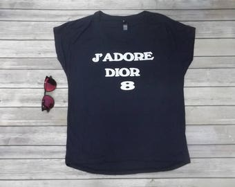 J' Adore Dior T-shirt  Print  All sizes and Color 100% cotton