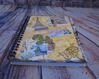 "Handmade ""LoveParis"" Notebook"
