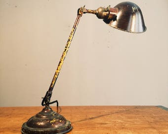 Faries Articulating Desk Lamp - Light - Industrial Age - Industrial lighting - Vintage - Antique - Steampunk