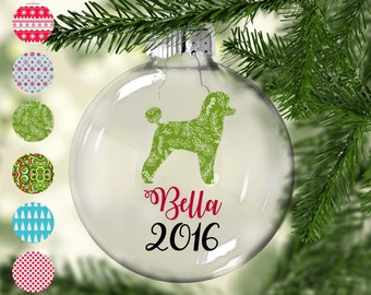 Toy poodle Christmas Tree Ornament