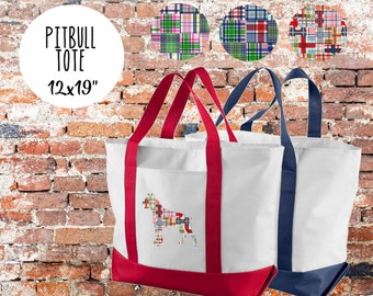 Pitbull Tote Bag
