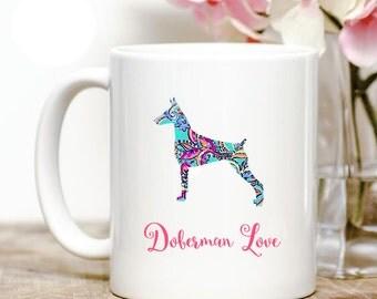 Doberman Pinscher Love Coffee Mug