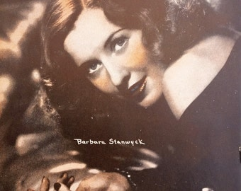 Barbara Stanwyck Sepia 6x8 Photographic Print