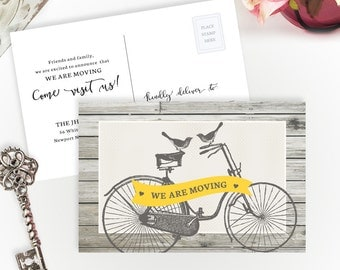 PRINTED moving announcement cards | We are moving cards | Personalized change of address postcards