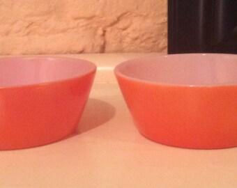Set of 2 Federal Orange Cereal Bowls