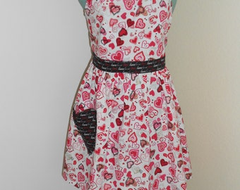 apron for valentine's day hearst and love