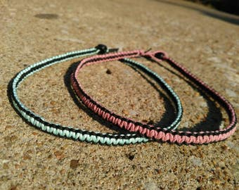 Reversible Hemp Chokers- Blue and Black, Pink and Black