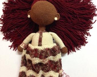 African Faceless crochet doll