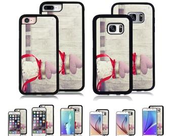 Cover Case for Apple iPhone 7 7 Plus 6 6S Plus Samsung Galaxy S7 Edge S6 Plus Note 5 8 9 10 att sprint Verizon  Glass Marshmallows Heart Top