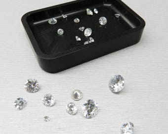 Stone Trays For Sorting Diamonds & Stones Organizer Stack-Able Machined Aluminum (3E)