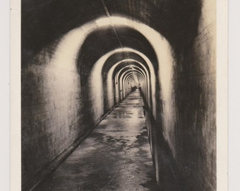 Real Photo Postcard, Inspection Tunnel, Grand Coulee Dam, Wash. Vintage Photo Postcard, Ephemera, Unused