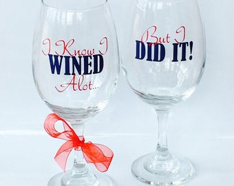 Graduate School Graduation Gift, Graduation Gift, Class of 2017, Personalized Wine Glass, Wine Glasses, Graduation Wine Glass