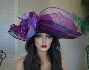 purple formal hat