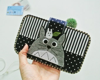 Guardian Totoro Smartphone Sleeve, Mobile Phone Pouch, Cellphone Cover, Phone Case, Traveller Gadget Organizer, Custom Made, Gift for Kids