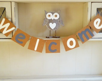 Welcome bunting, birthday, wedding, baby shower, home decorations