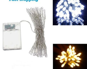 30 Mini  LEDs AA Battery  Cool/Warm White Christmas String Fairy Lights US SELLER Fast Shipping
