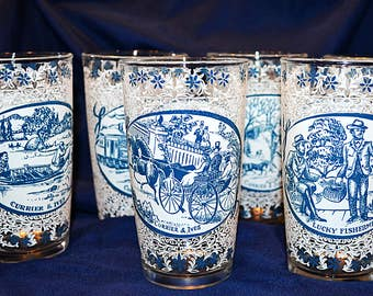 Currier & Ives Glasses, Collectible Currier and Ives Drinking Glasses