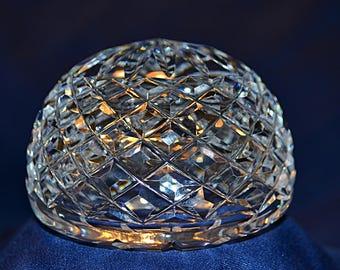 Waterford Crystal Round Paperweight,Vintage Waterford Crystal Dome Paperweight