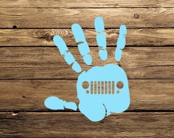 JEEP WAVE Car Decal - Free Shipping