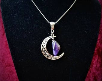 In the Moon genuine Amethyst necklace.