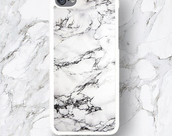 iPod Touch 6th Gen Marble Cases iPod Touch 6G White Design Print iPod 6 Covers, Marble Stone Texture Pattern iTouch 5th Generation 4 Covers