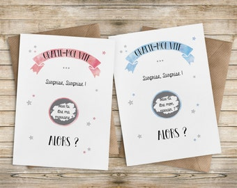 Scratch - godparent announcement cards