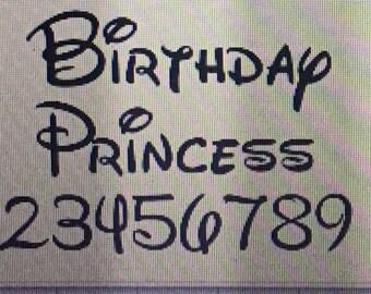 Birthday Princess Castle Shirt