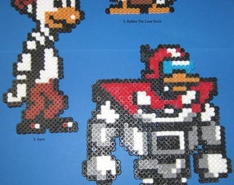 Ducktales Inspired Perler Bead Art Gyro Gizmoduck & Bubba The Cave Duck Free Shipping With In United States