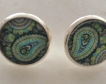 Earrings, barettes, hairpins, bracelet and more/ paisley Green