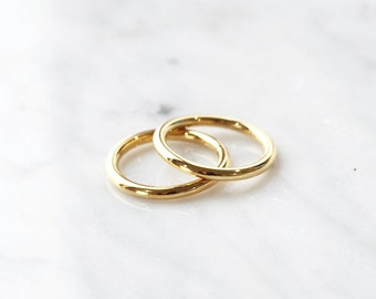 C1004 - New Gold Set of Thick Size 3 Stainless Steel Midi Rings