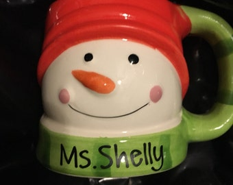 Christmas Coffee Mugs, Christmas Snowman Mug, Santa Christmas Mug, Holiday Mug