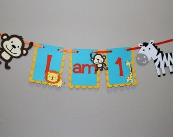 Jungle High Chair Banner, Jungle Banner, Safari Birthday, Jungle Birthday