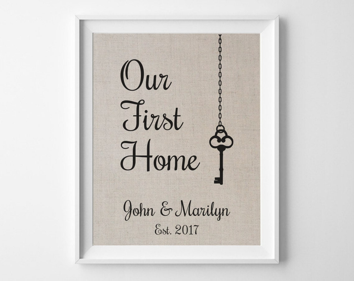 Our first home housewarming gift for couple key house Best housewarming gifts for couples